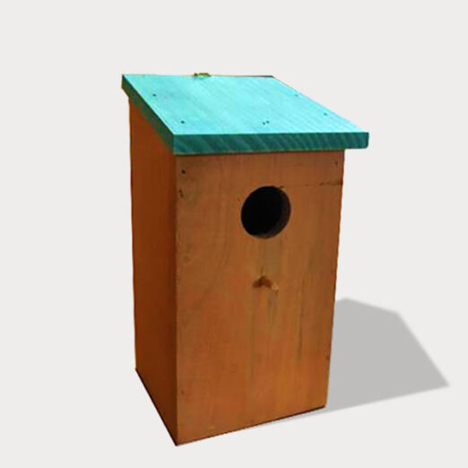 Wooden bird house,nest and cage size 12x 12x 23cm 06-0008 Bird Cage, Nest & Feeder Birds Use Products bird