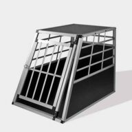 Large Single Door Dog cage 65a 77cm 06-0767 Aluminum Dog cage: Pet Products, Dog Goods Large Single Door Dog cage 65a 77cm