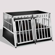 Aluminum Dog cage Large Double Door Dog cage 75a 104 06-0777 Aluminum Dog cage: Pet Products, Dog Goods Large Double Door Dog cage 75a 104