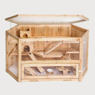 Wooden Chinchilla Cage House 08-0106
