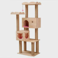 Pet, Cat, Wooden Cat Tower House MDF Cat Tree