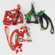 Manufacturers Wholesale Christmas New Products Dog Leashes Pet Triangle Straps Pet Supplies Pet Harness Christmas decoration (1301) christmas car accessories