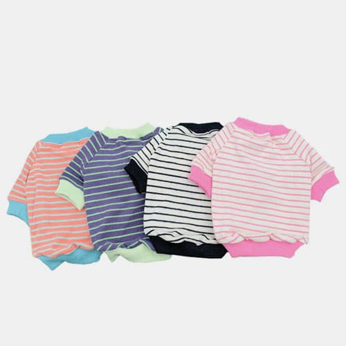 Striped Cotton Parent-child Outfit Pet Clothing Dog Clothes Pets For Spring and Autumn 06-0497-1 Dog Clothes: Shirts, Sweaters & Jackets Apparel 06-0497-1