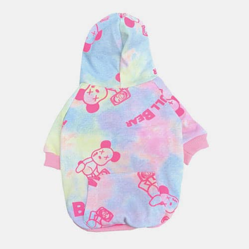 Wholesale Designer Dog Clothes Pet Hooded Tie-dye Sweater Korean Dog Two-legged Clothes Dog Clothes: Shirts, Sweaters & Jackets Apparel 06-0504-1